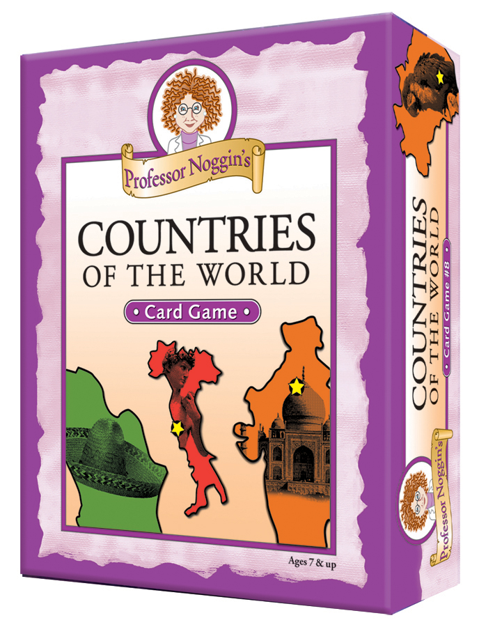 Professor Noggins Countries of the World | Kids card game