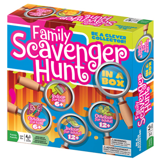 Family Scavenger Hunt party game indoor outdoor game