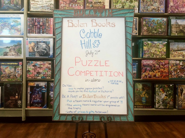 Cobble Hill Puzzle Company had the honour of being the first puzzle brand to kick-off this local event!