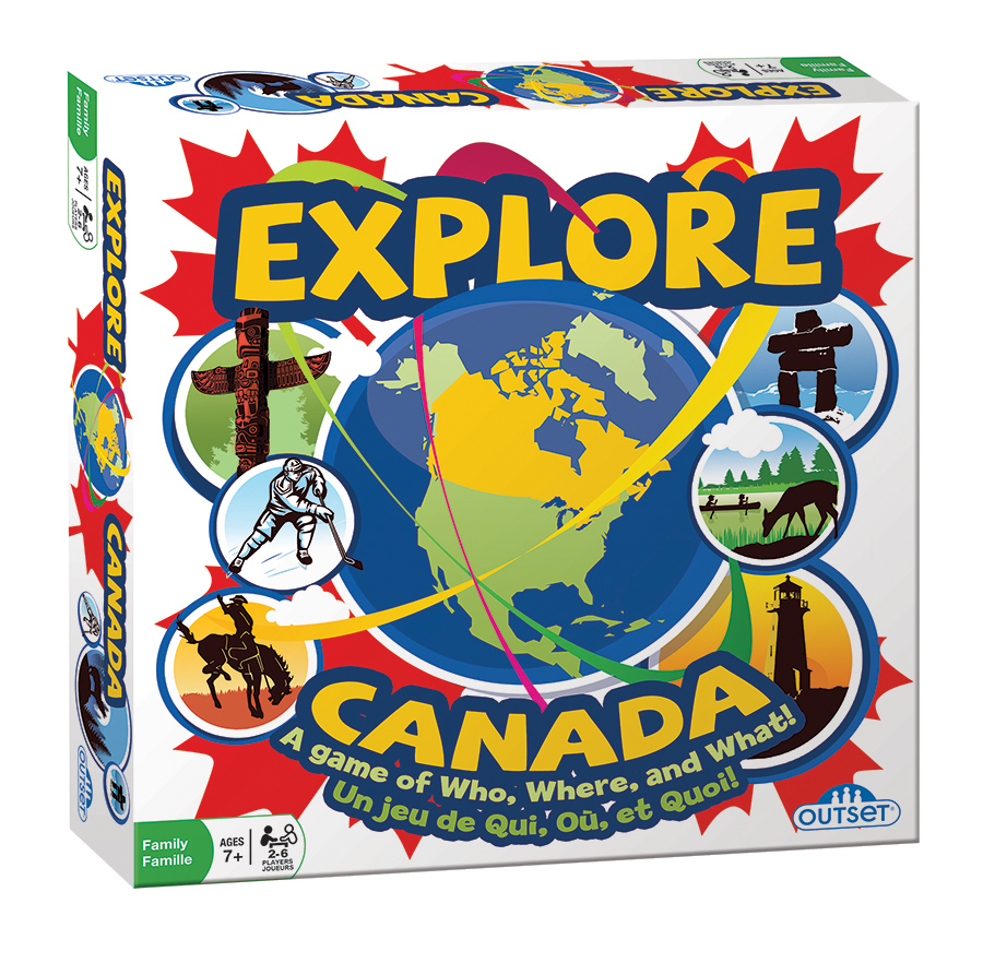 Explore Canada board game | family game | kids game | educational