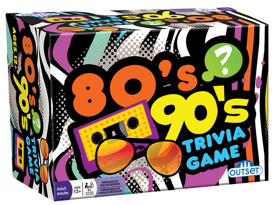 80s 90s trivia card game | tabletop game | Outset Media