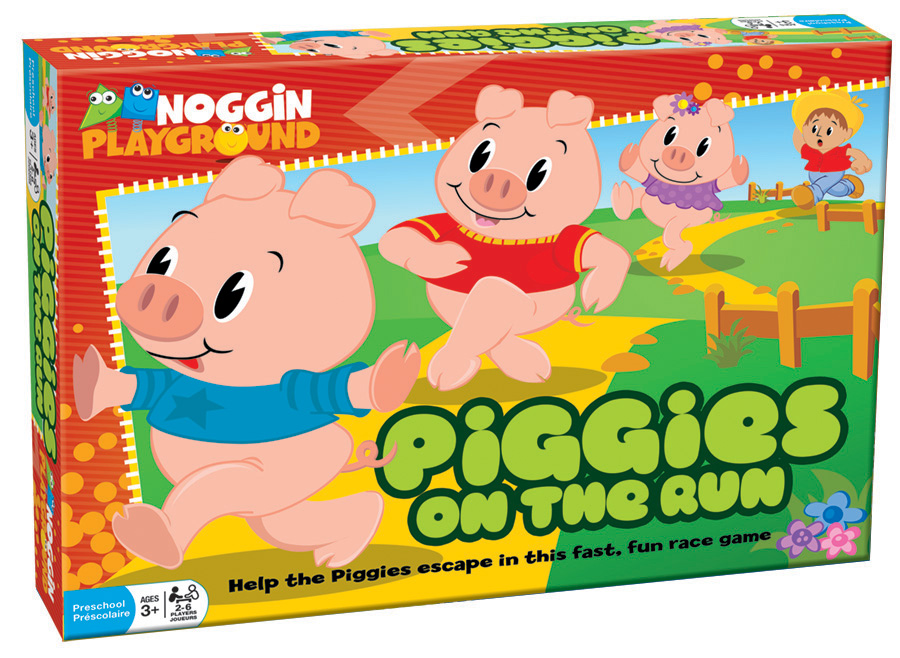 Piggies on the Run preschool learning game by Noggin Playground