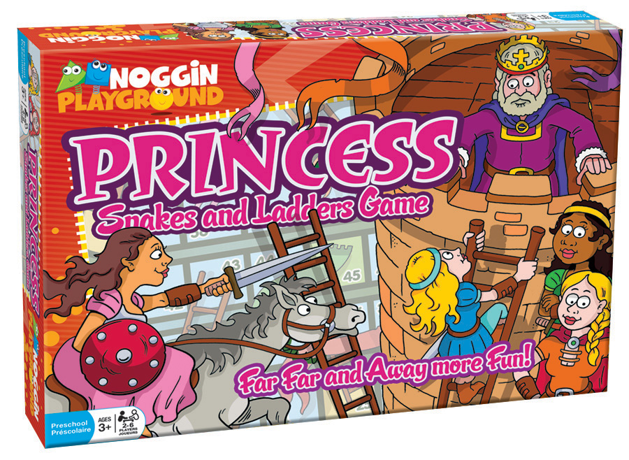 Princess Snakes and Ladders preschool learning game by Noggin Playground