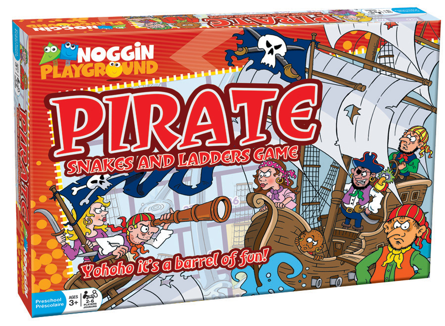 Pirates Snakes and Ladders preschool learning game by Noggin Playground