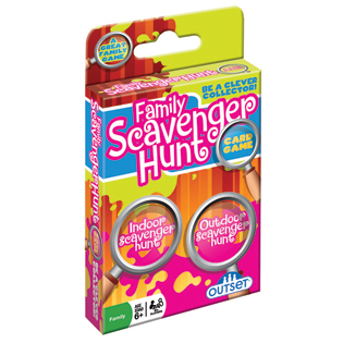 Family Scavenger Hunt card game kids game indoor outdoor game