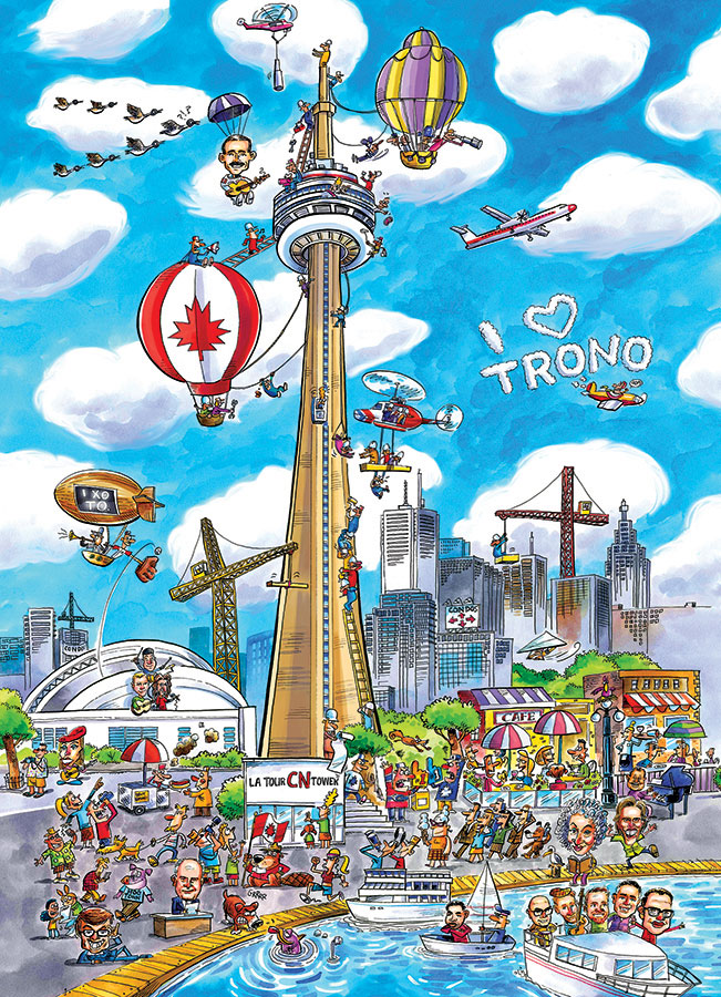 DoodleTown Toronto 1000 piece Cobble Hill Puzle Co cartoon jigsaw