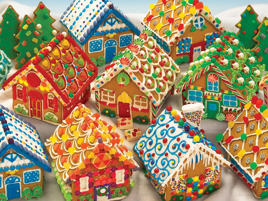 Gingerbread Houses jigsaw | 400 puzzle | Cobble Hill Family Puzzle Christmas