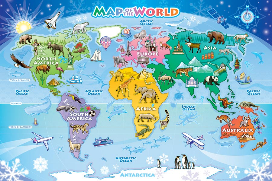 Map of the World Kids Floor puzzle