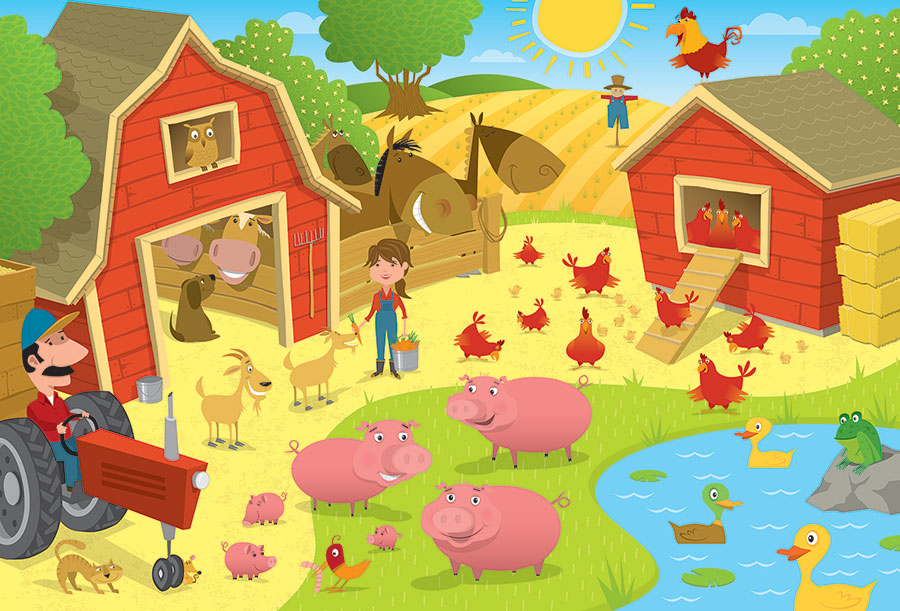 Higgledy Piggledy Farm Floor Puzzle Cobble Hill Puzzle Co kids jigsaw