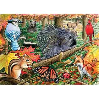 Eastern Woodlands kids tray puzzles