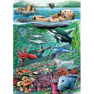 Life on the Pacific Ocean kids tray puzzles