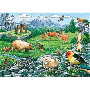 Rocky Mountain Wildlife Tray Puzzle Outset Media Games