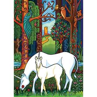 Unicorn Forest tray puzzles for kids