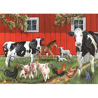 Red Barn Farm tray puzzles for kids