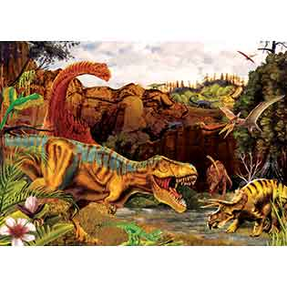 Dino Story tray puzzle for kids