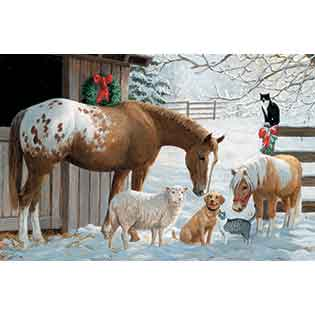 Barnyard Greetings |35 piece kids tray puzzles | horses sheep dog