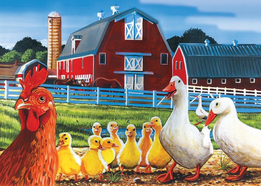 Dwight's Ducks tray puzzle for kids   Cobble Hill Puzzle Co