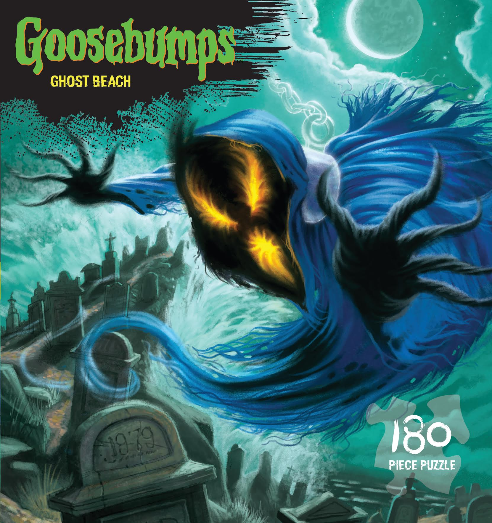 Goosebumps Puzzle - Ghost Beach 180 piece jigsaw puzzle by Outset Media