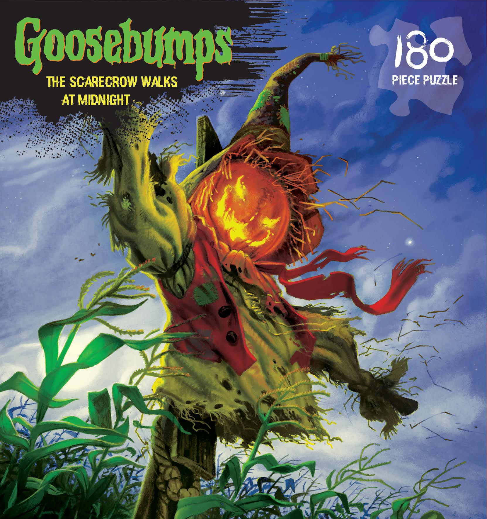 Goosebumps Puzzle - The Scarecrow Walks at Midnight 180 piece jigsaw puzzle by Outset Media