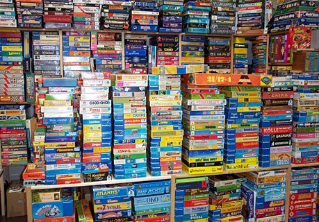 Ward Batty Photo of Board Game Collection
