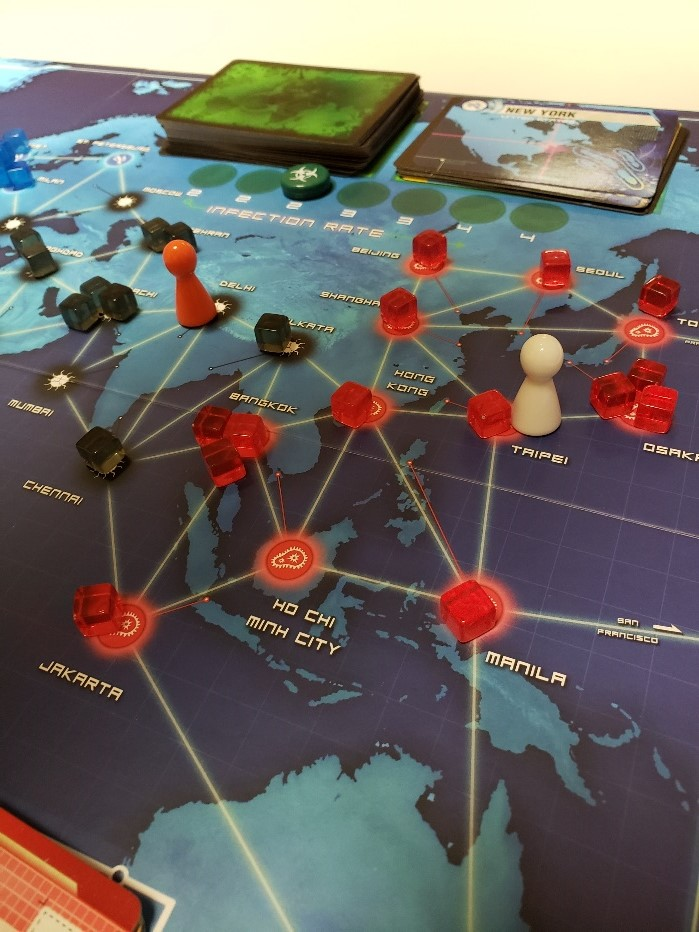 Pandemic Board Game Layout for Critic's Corner Review