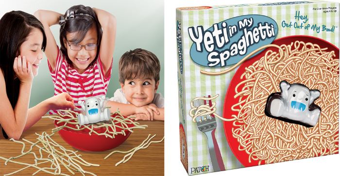 Yeti in My Spaghetti lifestyle and box shot