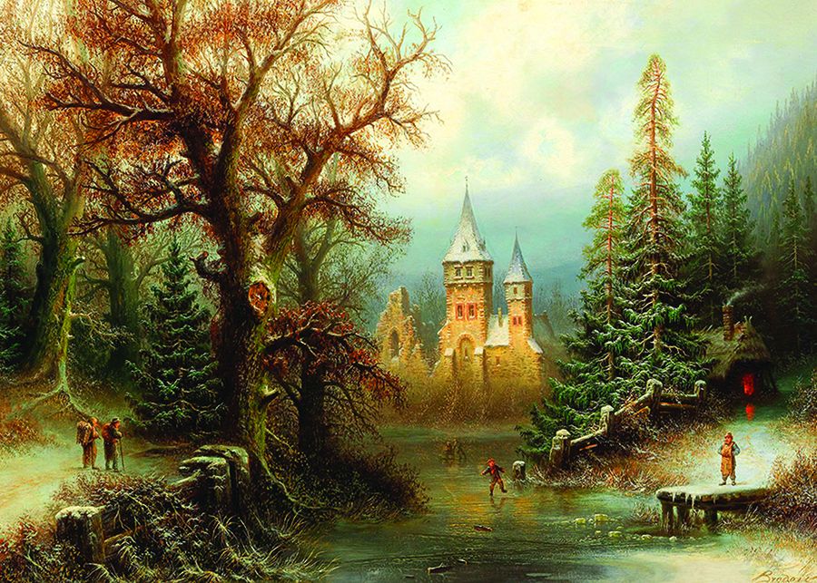 Romantic Winter Landscape D-Toys 1000 piece puzzle at Outset Media