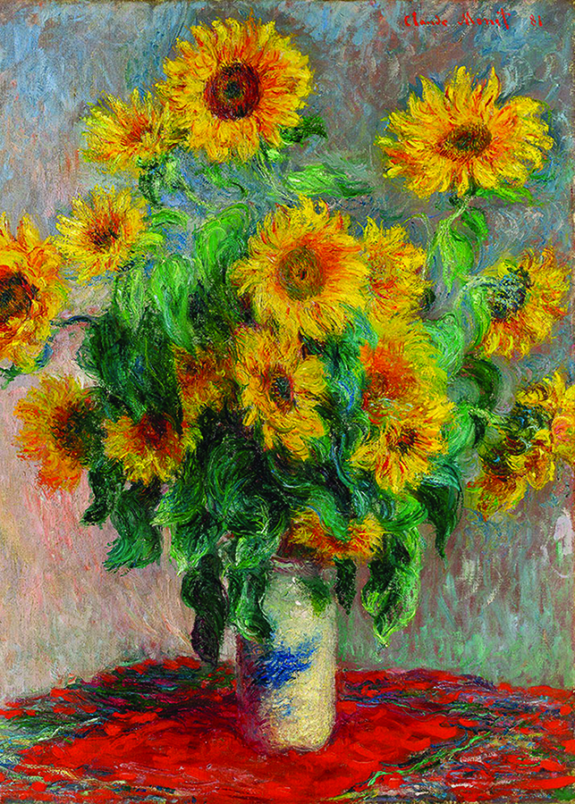 Bouquet of Sunflowers (Monet) D-Toys 1000 piece puzzle at Outset Media