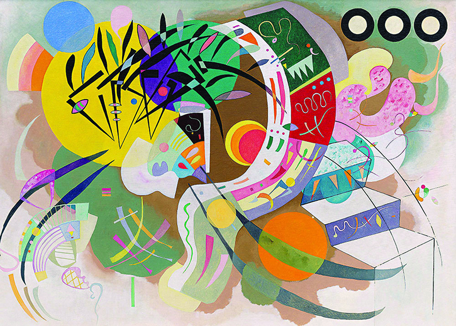 Dominant Curve (Kandinsky) DToys Puzzle distributed by Outset