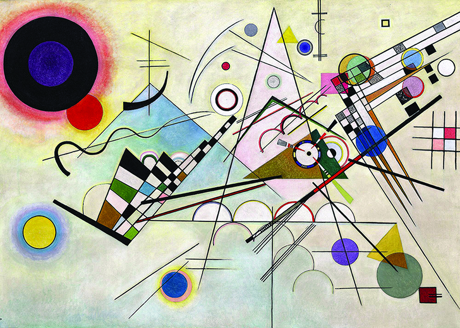 Composition8 (Kandinsky) DToys Puzzle distributed by Outset