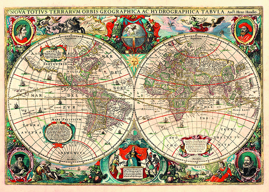 DToys puzzle distributed by Outset World Map (Vintage Maps)