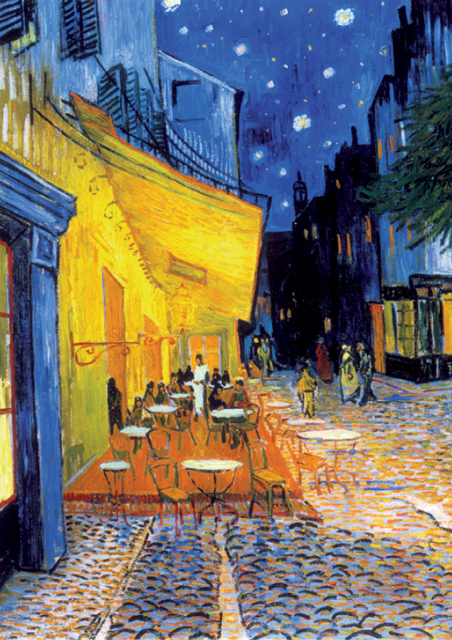 Van gogh cafe terrace at night tous les crampons de for Terrace night