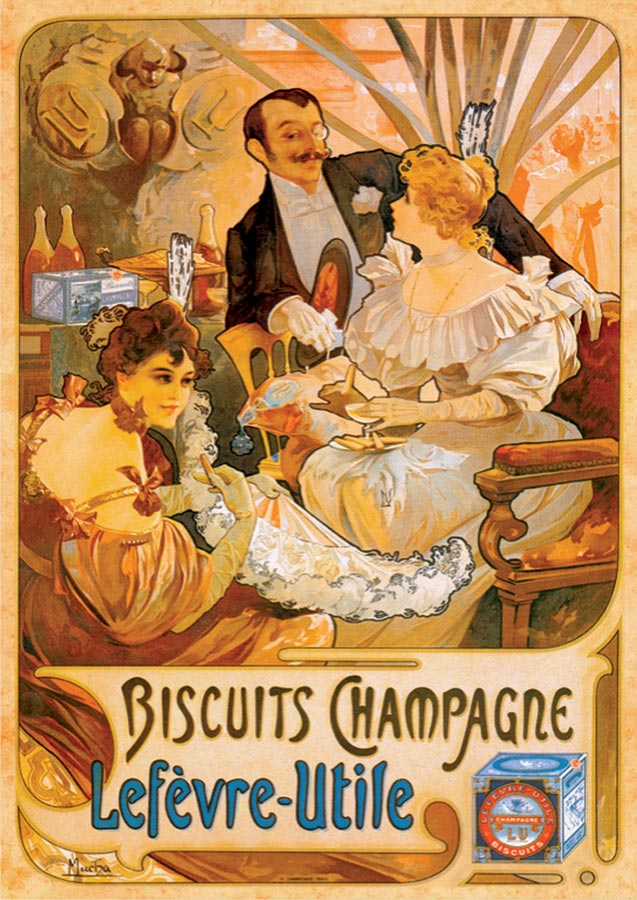 Biscuits Champagne Vintage Poster Puzzle Outset Media