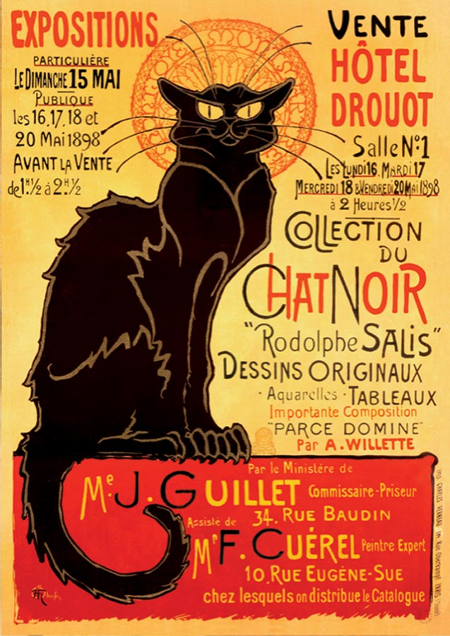 Chat Noir Vintage Poster Puzzle Outset Media Games