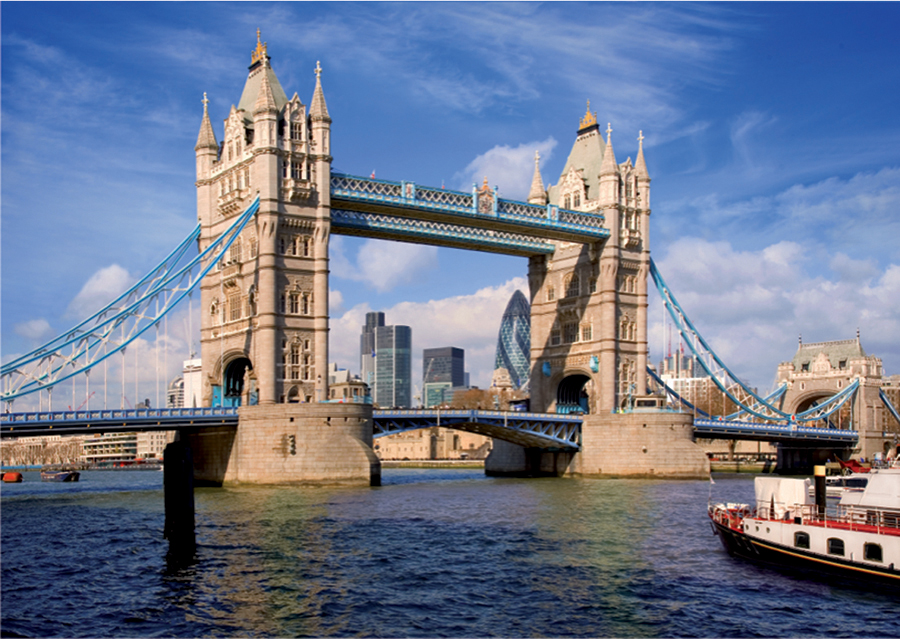 Tower Bridge in London 1000 piece jigsaw puzzle