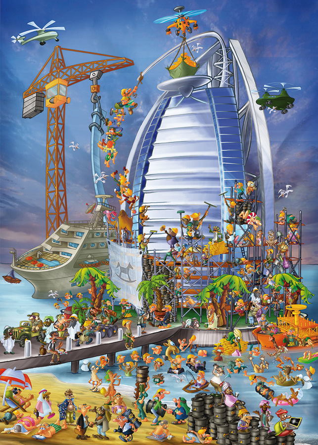 Building the Burj Al Arab - Cartoon Puzzle - DToys distributed by Outset Media