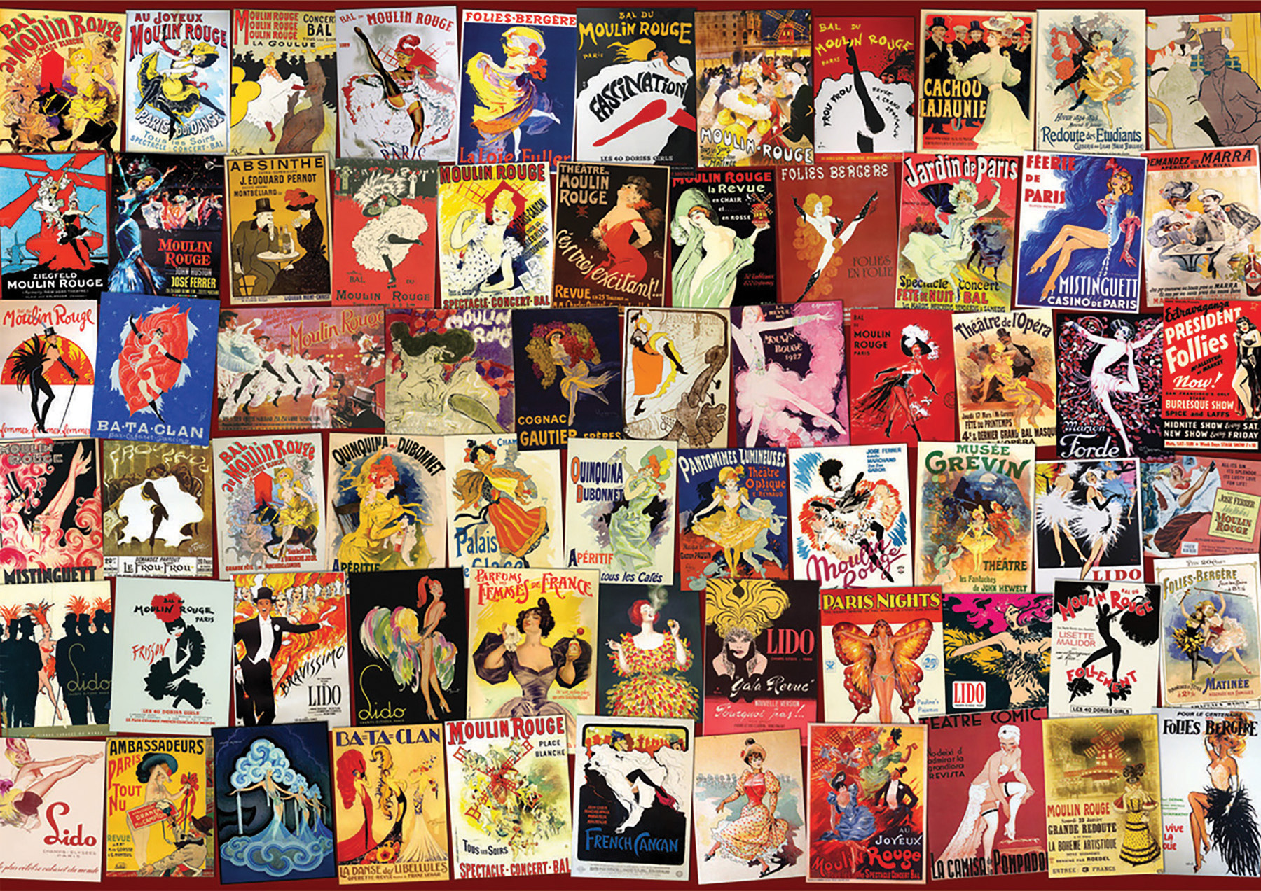 Cabaret Collage Vintage Poster D-Toys distributed by Outset Media