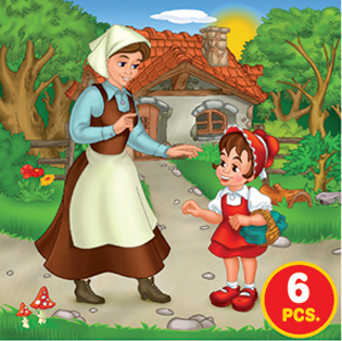 Childrens Puzzles - Fairy Tales Series 3 - 3-in-1 jigsaw puzzle