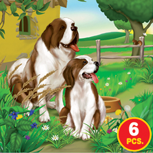 Childrens Puzzles - Farm Life Series 1 - 3-in-1 jigsaw puzzle
