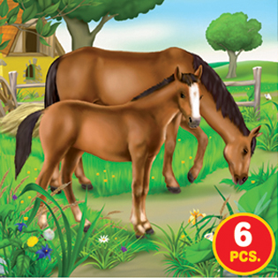 Childrens Puzzles - Farm Life Series II - 3-in-1 jigsaw puzzle
