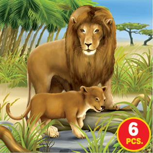 Childrens Puzzles - African Wildlife - 3-in-1 jigsaw puzzle