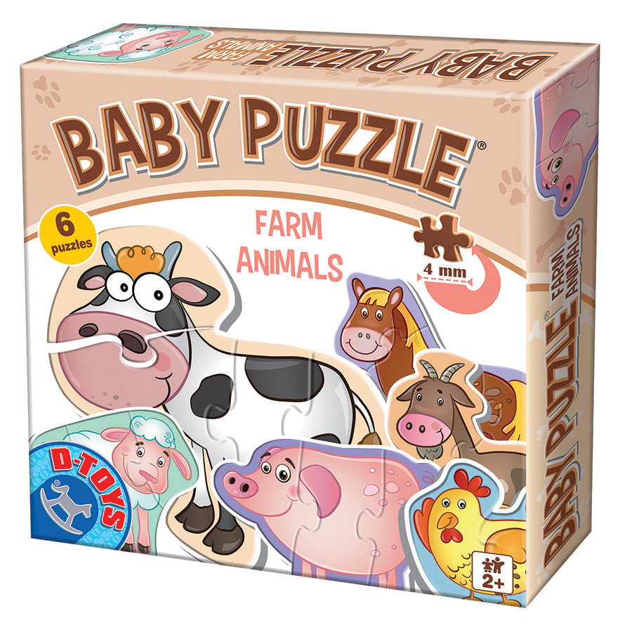 Farm Animals Baby Puzzle D-Toys distributed by Outset Media
