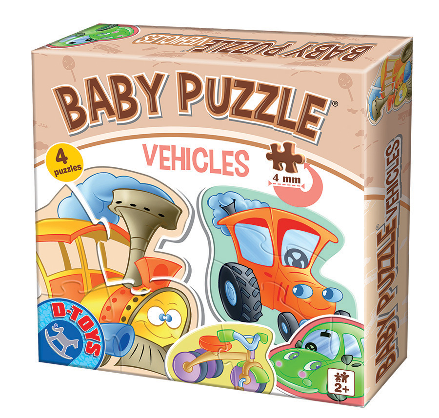 Vehicles Baby Puzzle D-Toys distributed by Outset Media