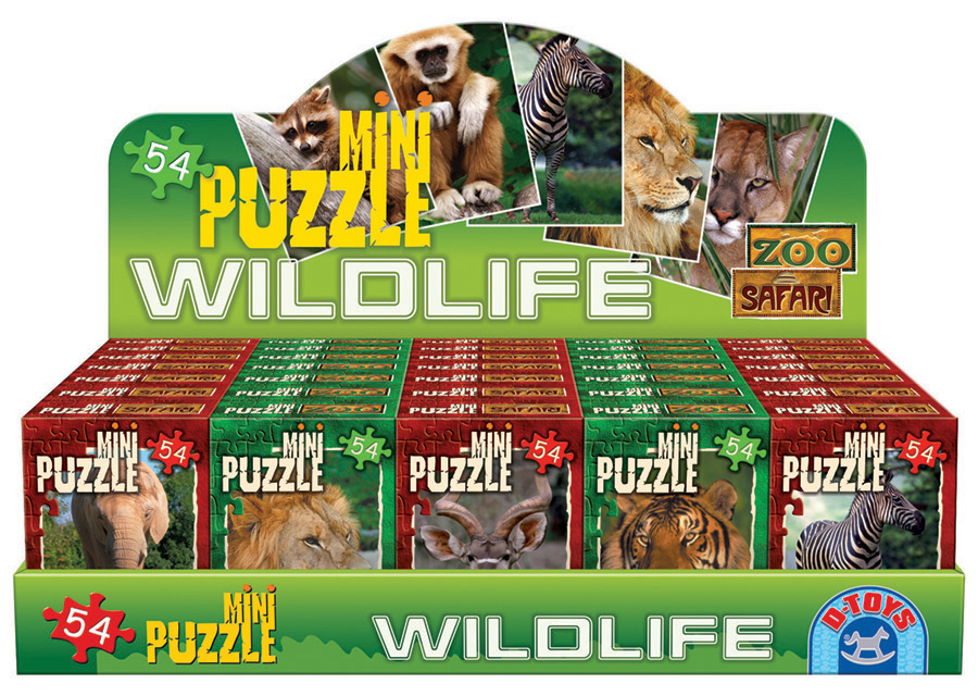 Wildlife mini puzzes D-Toys distributed by Outset Media