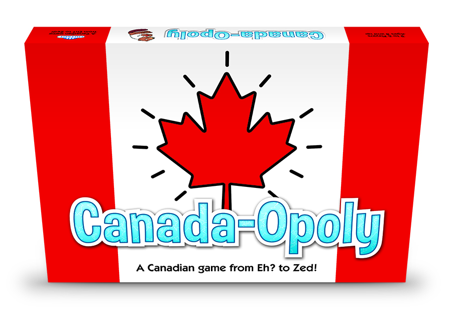 Canada-Opoly board game from Outset Media games