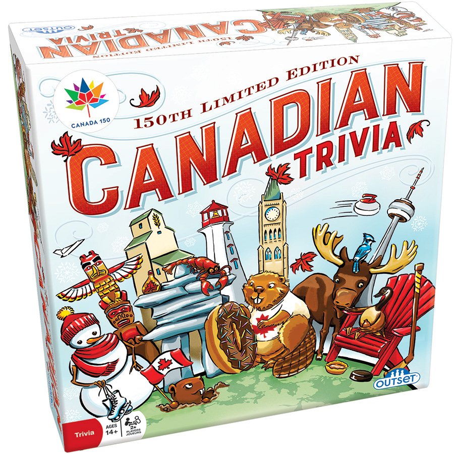 Canadian Trivia 150th Anniversary Limited board game