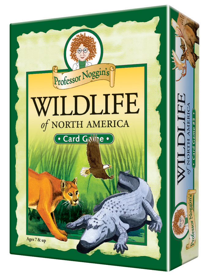 Professor Noggin's Wildlife of North America - Kids card game