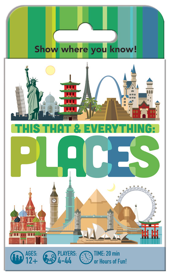 This That and Everything Places card game by Outset Media