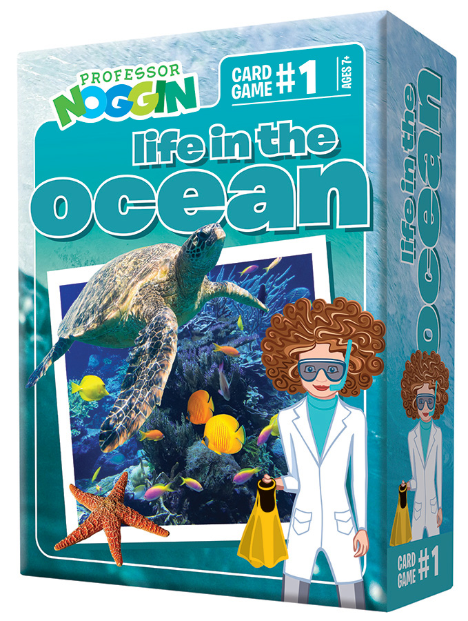 Professor Noggin Life in the Ocean card game by Outset