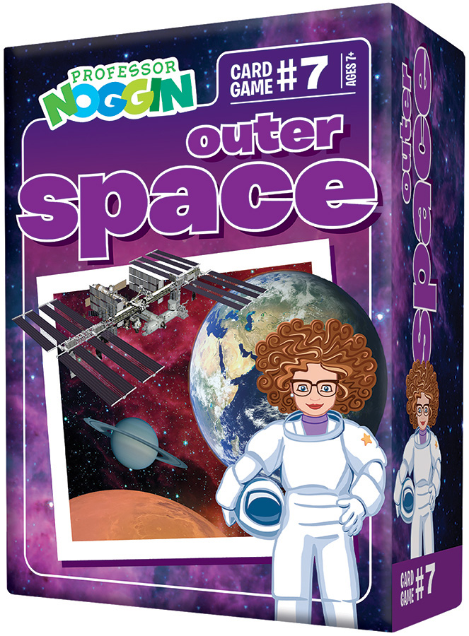 Professor Noggin Outer Space kids card game 2020
